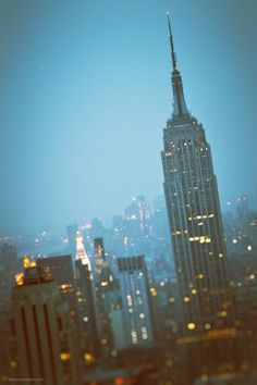 Beautiful Blue NYC ~ Empire State Building