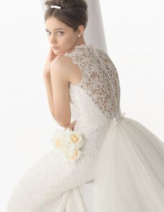 The FashionBrides is the largest online directory dedicated to bridal designers and wedding gowns. Find the gown you always dreamed for a fairy tale wedding. Lace Back Wedding Dress, Wedding Dresses With Flowers, Wedding Dresses 2014, Wedding Bridesmaid Dresses, Cheap Wedding Dress, Bridal Dresses, Flower Girl Dresses, Lady Gaga, Victoria's Secret
