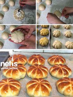 Bal Kabak Şeklinde Pamuk Poğaça Tarifi nasıl yapılır? 1.652 kişinin defterindeki bu tarifin resimli anlatımı ve deneyenlerin fotoğrafları burada. Yazar: ayse durak(aysenin mutfak sirlari) Donut Recipes, Cooking Recipes, Pasta, Taco Pizza, Doughnuts, Sandwiches, Sweets, Bread, Food And Drink