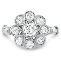 14K White Gold The Kelsie Ring from Brilliant Earth