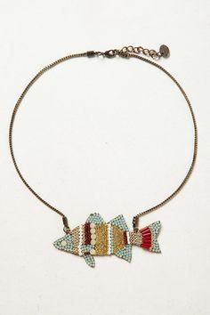 sparkle fish necklace, so spunky!