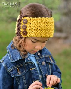 CROCHET PATTERN - Country Charm headwrap - a crochet head wrap pattern in 5 sizes (Babies, Toddler, Child, Adult) - Instant PDF Download