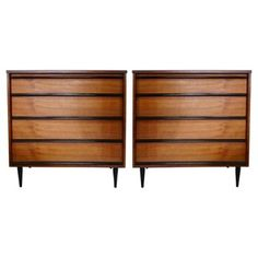 Check out this item at One Kings Lane! Mid-Century Modern Dressers, Pair