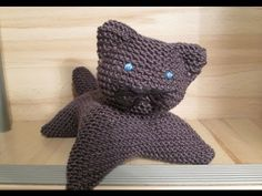 TUTO TRICOT APPRENDRE A TRICOTER UN CHAT TRES FACILE !!!!!!! EASY CAT KNITTING - YouTube
