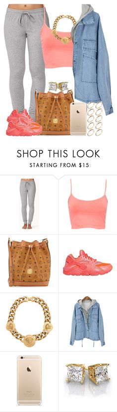 """Coral Lava."" by livelifefreelyy ❤ liked on Polyvore featuring Forever 21, Pull&Bear, MCM, NIKE, Versace and ASOS"