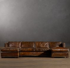 Easton Leather U-Chaise Sectional - how awesome does this look? : easton leather sectional - Sectionals, Sofas & Couches