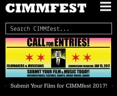 Chicago International Movies & Music Is calling for entries! Submit your music & film to #CIMMFEST #music #movies #theatticat #art #culture