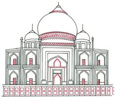 4. Details - How to Draw the Taj Mahal in 5 Steps   HowStuffWorks