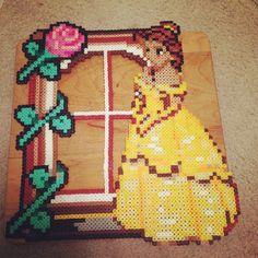 Disney Belle frame perler beads by princey17