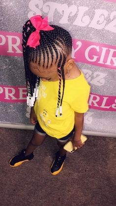 Little Girl Braids, Black Girl Braids, Braids For Kids, Girls Braids, Black Kids Braids Hairstyles, Lil Girl Hairstyles, Braids Hairstyles Pictures, Kids Outfits Girls, Cute Girl Outfits