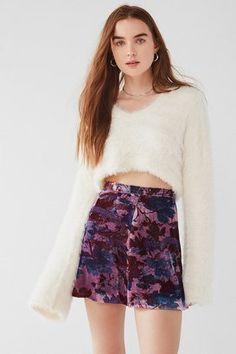 c84849e784c Urban Outfitters UO Cher Velvet A-Line Mini Skirt - StylishOffer