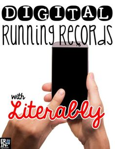 Literably in the classroom - a free app that does running records for you! So excited this works - what a time saver.