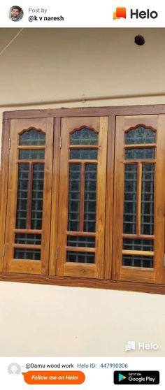 Windows - New Deko Sites Indian Window Design, Front Window Design, House Front Wall Design, Window Glass Design, Wooden Front Door Design, House Window Design, Window Grill Design, Door Gate Design, Room Door Design