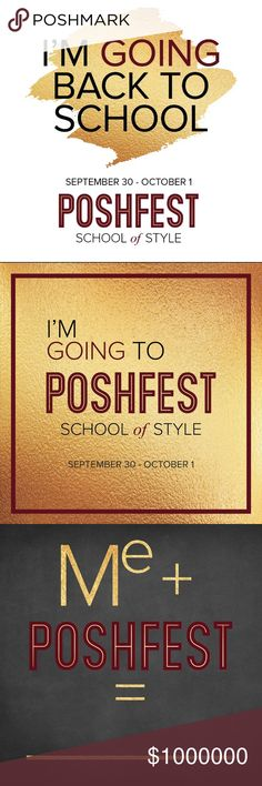 Attending PoshFest? Let your friends know! Are you excited about the biggest Poshmark event to date? Screenshot any (or all!) of these badges and share them to your closet with the brand PoshFest, and on social media to spread the word! Learn more about this year's conference: poshfest.poshmark.con PoshFest Other