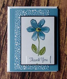 Flower Thank You Cards Stampin Up Garden in Bloom Thank You