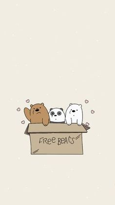 New Wall Paper Android Anime Animals Ideas Cartoon Wallpaper Iphone, Disney Phone Wallpaper, Bear Wallpaper, Kawaii Wallpaper, Animal Wallpaper, We Bare Bears Wallpapers, Panda Wallpapers, Cute Cartoon Wallpapers, Ice Bear We Bare Bears