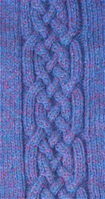 Just loving these knitted celtic knots.