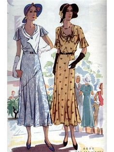 vintage dress patterns 1930s - Google Search