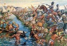 "La Pintura y la Guerra ""Cortes destroyed Aztec Civilisation in Mexico"" Ancient Aztecs, Ancient Civilizations, Ancient History, Aztec Empire, Aztec Culture, Inka, Aztec Warrior, Mexico Art, Aztec Art"