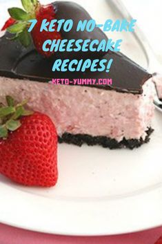 These 7 Keto no bake cheesecake are super yummy! I am sure you´ll get addict!! #keto #ketofood #ketocheesecake #ketorecipes #ketofood #ketodiet #desserts