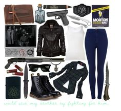 """""""Supernatural - the lost Winchester sister"""" by misskittyhawk ❤ liked on Polyvore featuring TRANSIT, Topshop, Ray-Ban, Zippo, Rustico, G-Shock and L'Oréal Paris"""
