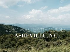 zero waste city guide to asheville, nc: places to eat and explore.
