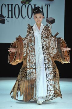 Clothes made out of chocolate---- Finally! Now we can wear it and eat it....