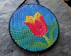 Micro mosaic Tulip Pendant