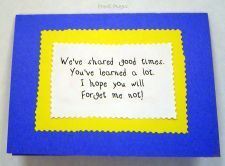 Butterfly Garden Seeds and Good-Bye Backpack. Ideas for a happy and loving send-off.