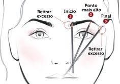 Observe a técnica de design de sobrancelhas...