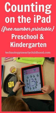 An iPad Counting Activity for Preschool and Kindergarten