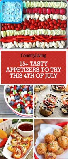 Kick off your 4th of July festivities with these delicious party starters and red, white, and blue appetizers.