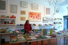 Park Life: The shop has 1,400 square feet of retail and gallery space, packed with a colorful, curated collection of books, modern design objects, edgy artist-designed t-shirts and jewelry, and artist multiples.