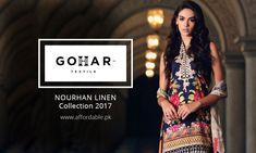GOHAR NOURHAN Linen Collection 2017 GOHAR Textile Nourhan Khaddar Collection 2017 Is Now Available on Affordable.pk