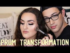 PROM Makeup Transformation   MannyMua - YouTube