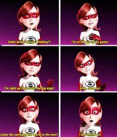 feminist, feminism, the incredibles, pixar