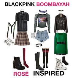 """""""BLACKPINK - BOOMBAYAH (ROSE INSPIRED)"""" by kariina-sykes ❤ liked on Polyvore featuring Christian Lacroix, Vetements, Dr. Martens, River Island, Forever 21, AMBUSH, Boohoo, Nine West, Lands' End and IRO"""