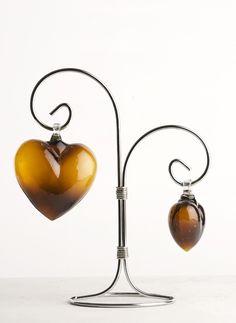 corazones de vidrio soplado