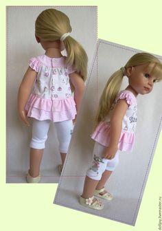 Купить Выкройка туники и лосин + МК по пошиву для куклы Gotz 50 см - разноцветный