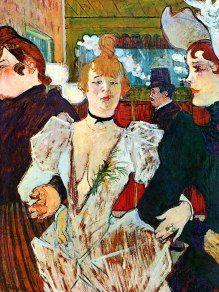 """Henri De Toulouse -Lautrec :""""La Goulue arrivant au Moulin Rouge"""""""