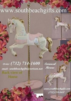 Rose Pastel Carousel theme birthday party ideas for table decoration or candy buffet ( 732)714-1600