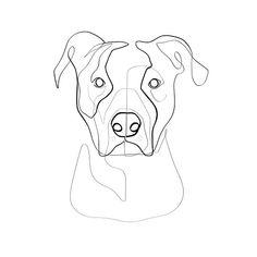 Custom Dog Portrait Custom Pet Portrait Personalized Art Print Custom Pet Memorial Animal Wall Art Dog Line Drawing Dog Line Drawing, Pitbull Drawing, Dog Line Art, Custom Dog Portraits, Pet Portraits, Outline Drawings, Animal Drawings, Dog Tattoos, Line Art Tattoos