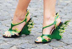 green toes plus Prada. #NMFallTrends