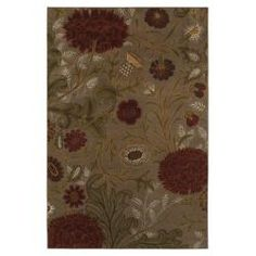 I just got this rug and it is so pretty. It is well made and soft on bare feet. It has the pattern has a cool vintage 20's look. Find it at Overstock - This beautiful, green rug from Marabella adds a touch of understated elegance to any room of the home. The olefin fiber rug features a classic, floral design in muted tones of red, and beige, to create a stylish and classic appearance. http://www.overstock.com/Home-Garden/Marabella-Green-Rug-53-x-710/6463877/product.html?CID=214117 $129.99