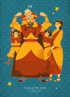 Tenzin and  his family by freestarisis.deviantart.com on @deviantART