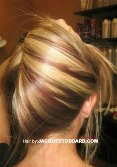 Jacque Stoddard Colorist Stylist    #blonde #redhaircolor #redhighlights #highlights #hairstyles
