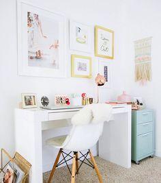 feminine office desk
