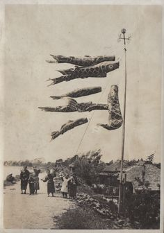 Elstner HiltonKoinobori 鯉幟 for Kodomo no hi 子供の日 in May Festival, Japan - 1914-1918Source : Flickr