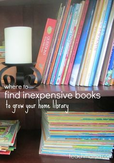 Books can be expensive! If you want to grow your home library and want to know where to find inexpensive books for your kid, read this! You can find cheap, affordable sites for books and grow your library which means expanding their knowledge with learning and the love of books!  #teachmama #books #homelibrary #placestobuybooks #library #learning #momtips #kids #mom #book #reading