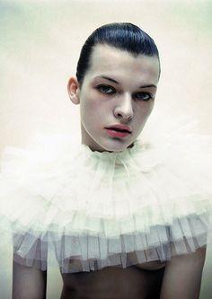 Milla Jovovich by Mario Sorrenti.